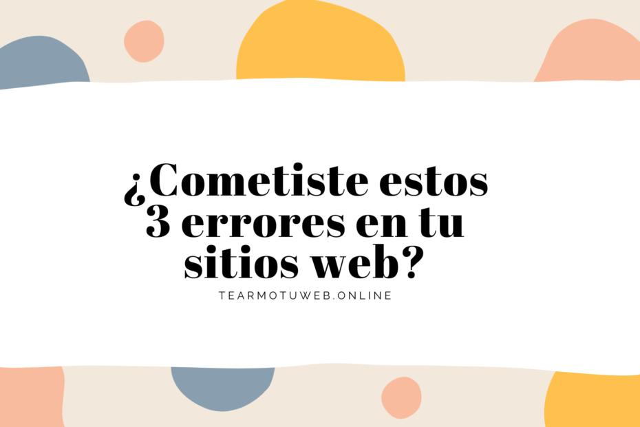 errores en sitios web