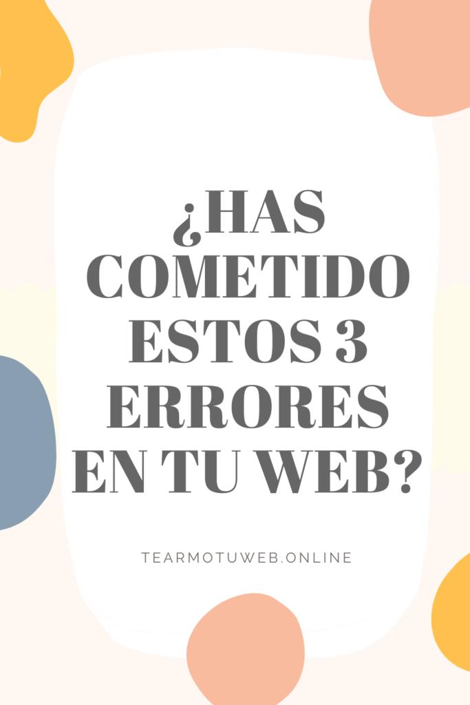 errores en tu sitio web