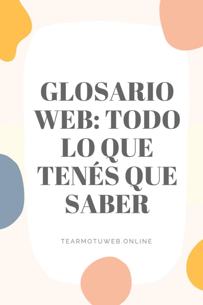 glosario web