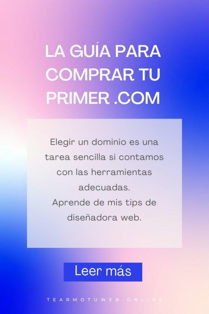 dominios baratos en argentina dónde comprar .com .com.ar cual elegir dominio